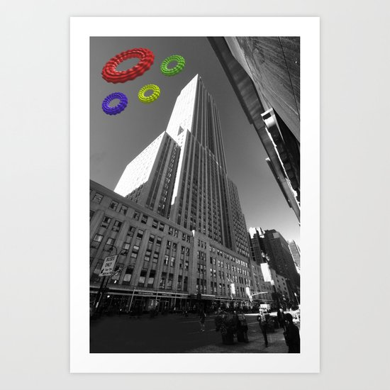 Empire State of the Rings  Art Print