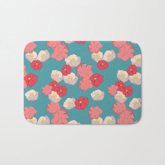 Blooming graphic Bath Mat