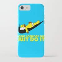 homer iPhone & iPod Cases featuring Homer Lazy by Maxvtis