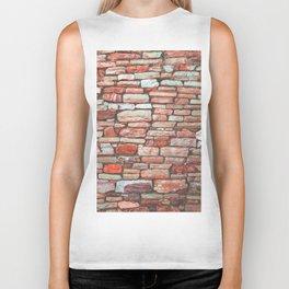 Brick Wall (Color) Biker Tank