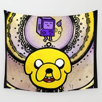 jake Wall Tapestries featuring Jake Mandala by Spectronium - Art by Pat McWain