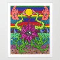 third eye Art Prints featuring third eye by Ichsjah