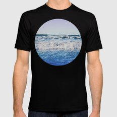 Indigo Waves LARGE Mens Fitted Tee Black