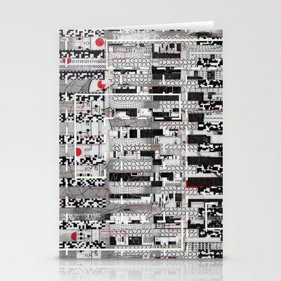 Opportunistic Species (P/D3 Glitch Collage Studies) Stationery Cards