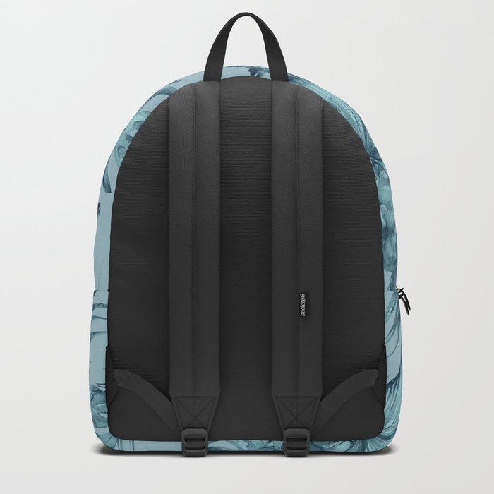 Hawaiian Blue Teal Island Pattern Backpack