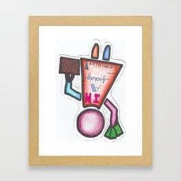 I'm A Fucking Feminist! Framed Art Print