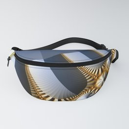 Pleated abstract with gold and jewels Fanny Pack
