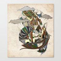 rap Canvas Prints featuring Rap-Unzel by Adelle Rae