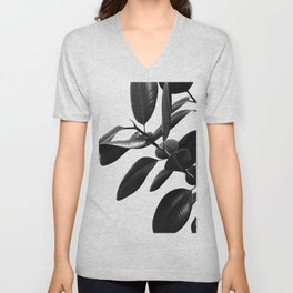 Ficus Elastica Black & White Vibes #1 #foliage #decor #art #society6 Unisex V-Neck