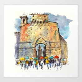 Gate of San Gimignano, Tuscany Art Print