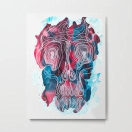The Skull Metal Print