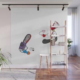 Cat and mouse fight Wall Mural
