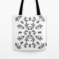bees Tote Bags featuring Bees by Lauren Spooner