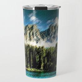 Carezza Lake Dolomites, Italy Landscape Painting by Jeanpaul Ferro Travel Mug