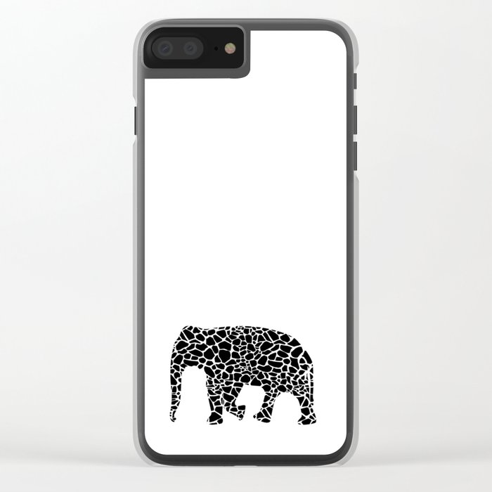 Elephant with giraffe print Clear iPhone Case
