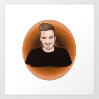 liam payne Art Prints featuring Liam Payne by _ARTISTAGRAM_