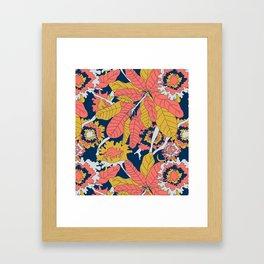 Limited Color Palette Bold Jungle Leaf Floral Framed Art Print