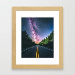 Milky Way at US Road (USA) Framed Art Print