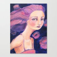 jane davenport Canvas Prints featuring Move on by Jane Davenport by Jane Davenport