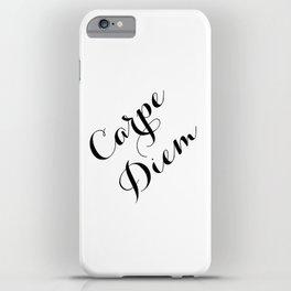 Carpe Diem Script Typography iPhone Case