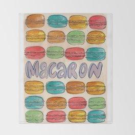 Macaron NOT Macaroon Throw Blanket