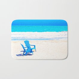 Chairs on the Beach Bath Mat