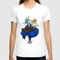 finn and jake T-shirts featuring FINN, JAKE, FIONNA & CAKE by Echo Faust