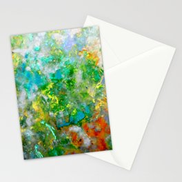 Abstract Art in Color Symphony Green Stationery Cards