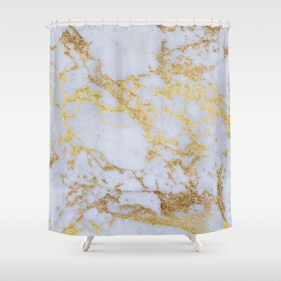 Awesome trendy modern faux gold glitter marble shower Trendy curtains