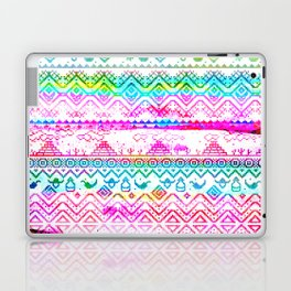 bohemian pattern in pink and turqupise soft colors Laptop & iPad Skin