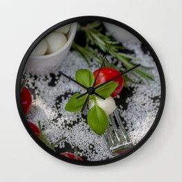 Italian appetizer Wall Clock