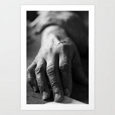 Grandma's Hands Art Print