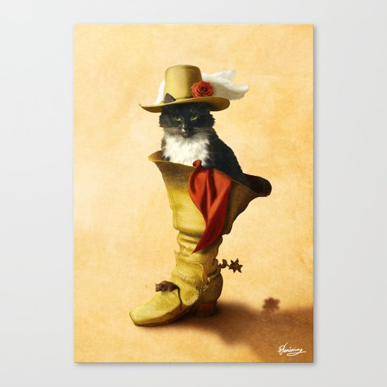 Little Puss in Boots Canvas Print