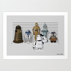 Star Wars Droid Lineup Art Print