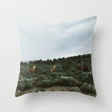 Nevada Horses Throw Pillow