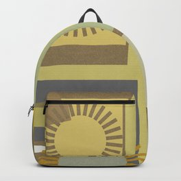Abstract Retro Multi-Pattern Backpack