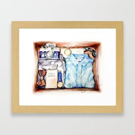 Gentleman's Adventure Kit Framed Art Print