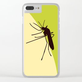 Biting mosquito print Clear iPhone Case