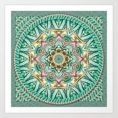 Sea Angel Kaleidoscope Art Print