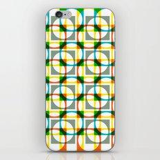 Colorful circle square pattern iPhone & iPod Skin