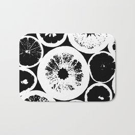 Citrus Black & White Bath Mat
