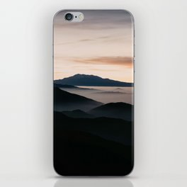 CLOUDY MOUNTAINS iPhone Skin