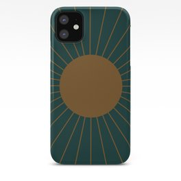 Minimal Sunrays - Teal iPhone Case
