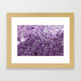 Amethyst Sparks Framed Art Print