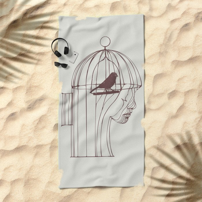 Be Alone Beach Towel