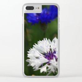 White cornflower Clear iPhone Case