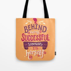 Successful woman Tote Bag