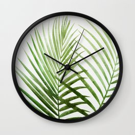 Fresh Palm Fronds Wall Clock
