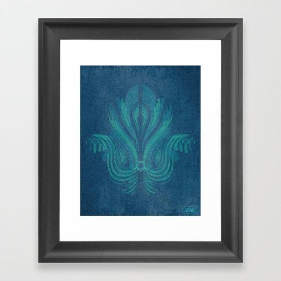 The Watcher's Hamsa Framed Art Print