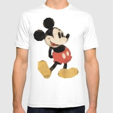 Mr. Mickey Mouse MEDIUM Mens Fitted Tee White